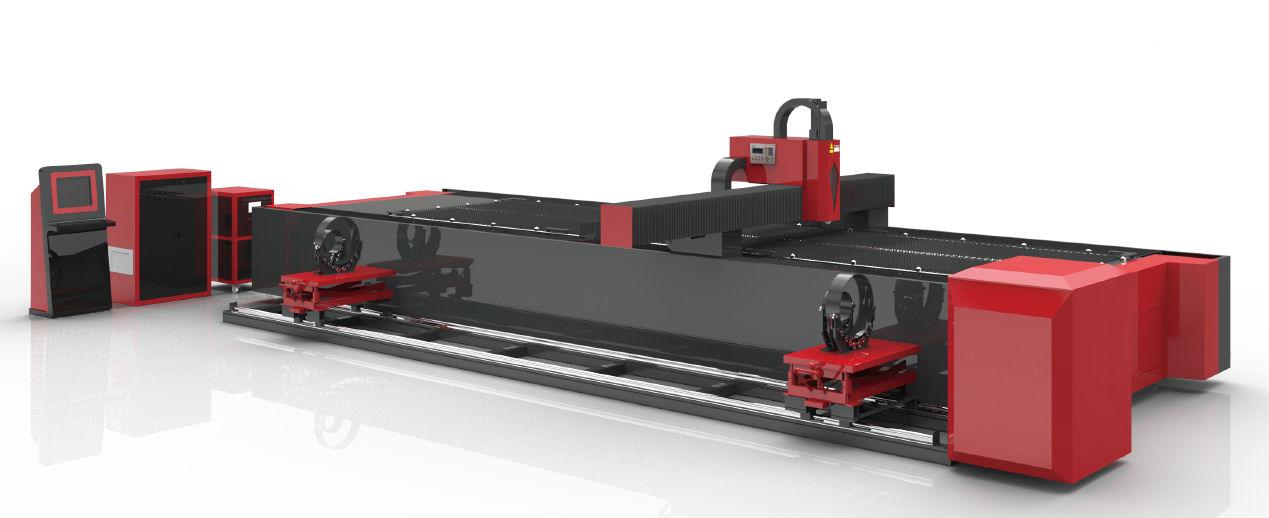 Maszyna Do Cięcia Blach Oraz Rur Na Jednej Konstrukcji